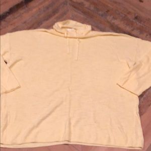 Yellow turtle neck pullover